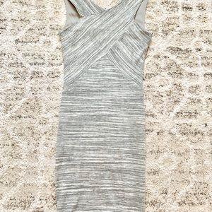 Papaya light gray tank top form fitting dress